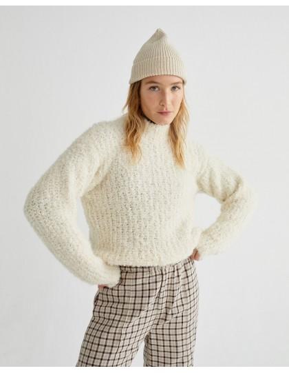 Pull THINKING MU Femme Cotys Blanc