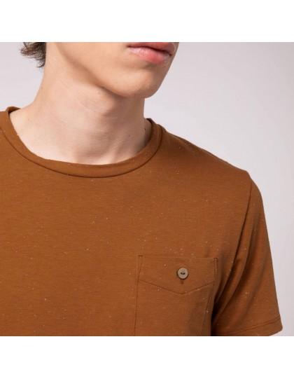 T-Shirt FAGUO Homme Olonne Marron