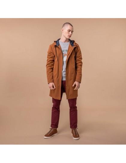 Imperméable veste recyclée FAGUO Homme Gresigne Marron
