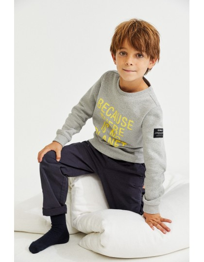 Sweat ECOALF Enfant San Diego Iconic Gris