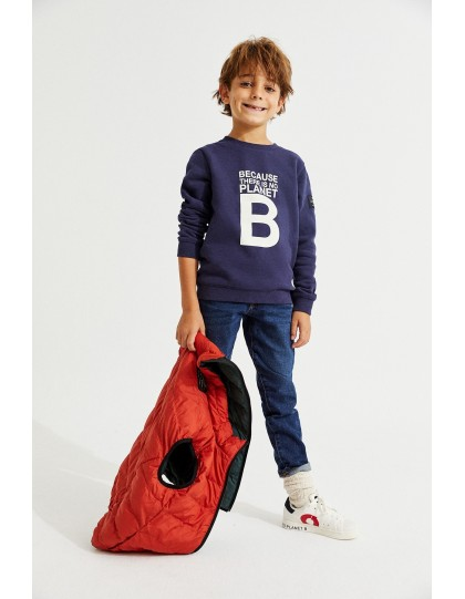 Sweat ECOALF Enfant San Diego Great Bleu Marine
