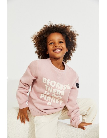 Sweat ECOALF Enfant Bubble Rose