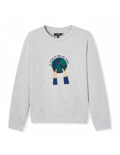 Sweat Made in France Enfant Saturnin Le futur est dans nos mains