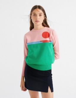 Pull THINKING MU Femme Sunset Sweater