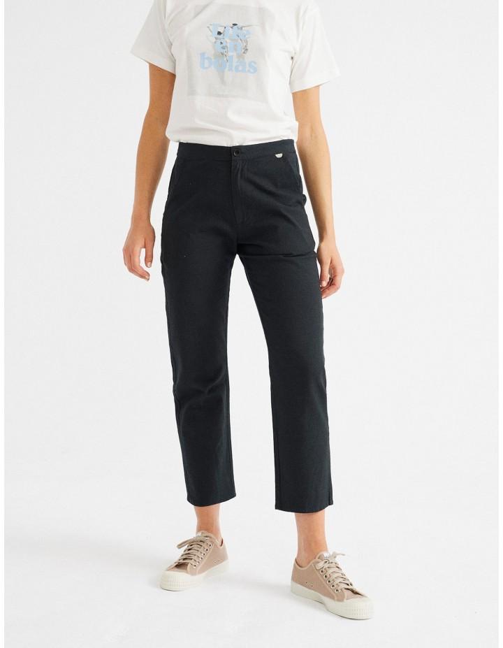 Pantalon bio THINKING MU Femme Daphne Noir