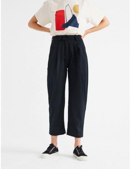 Pantalon coton bio THINKING MU Femme Rhino Noir
