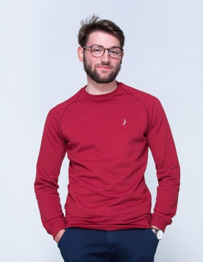 Sweat made in france POLYTESSE Mixte Bordeaux