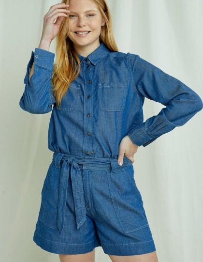 Chemise en jean Sana Bleu