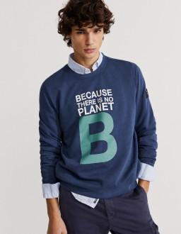 Sweat Great B Bleu Marine EcoAlf
