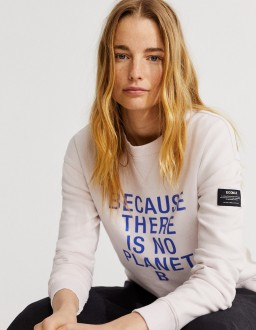 Sweat femme BIO et Recyclé ECOALF Because Lilas