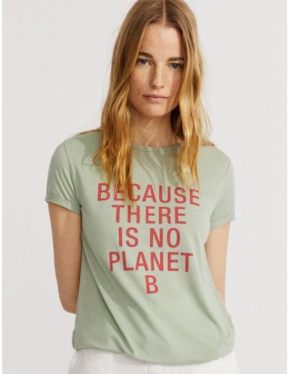 T-shirt Ecoalf Onda Because Vert