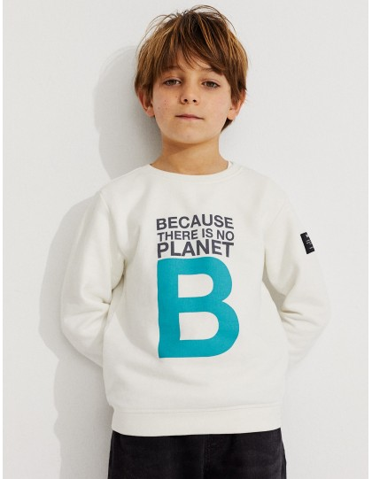 Sweat Enfant Great B Blanc