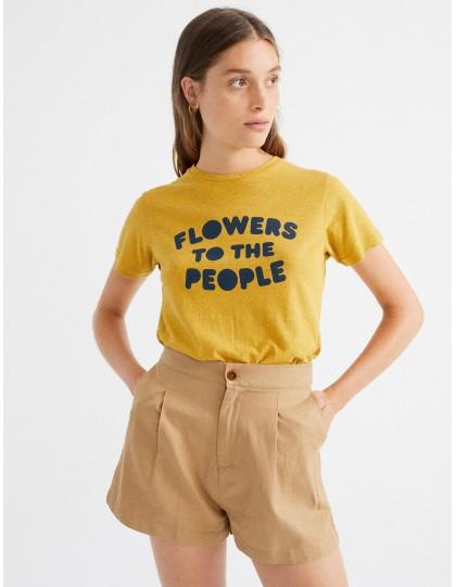 T-Shirt bio Flowers to the people Thinking Mu
