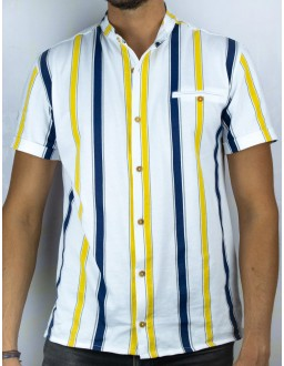Chemise rayée Iquitos Bandas Blanc