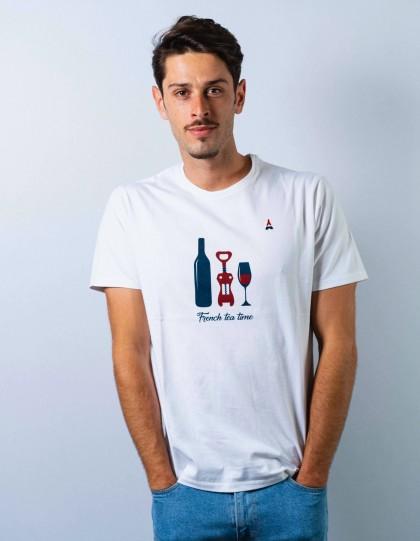 T-Shirt bio apéro blanc