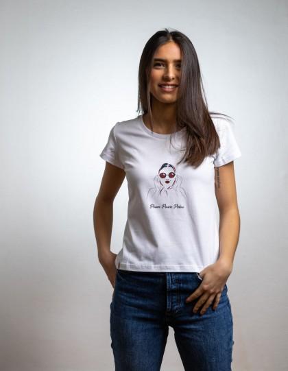 T-Shirt Bio Marilyn Blanc