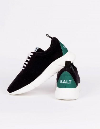 Sneakers unisexe Knit Restart Noir