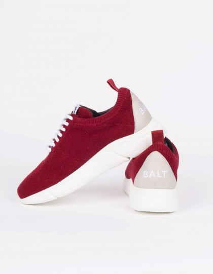 Sneakers unisexe Knit Restart Bordeaux