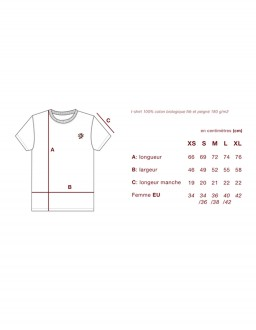 guide des tailles tshirt johnny romance