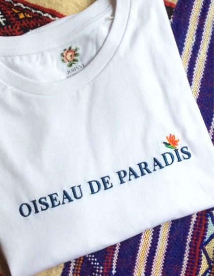 T-Shirt BIO Broderie Paradis - Blanc