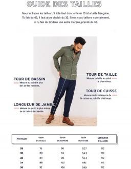 guide des tailles pantalon faguo