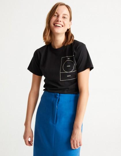 T-Shirt Bio Ryan Carl Moon Noir