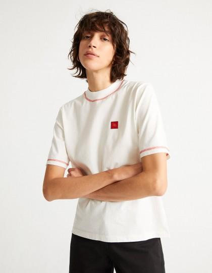 T-Shirt Bio Sol Red Blanc
