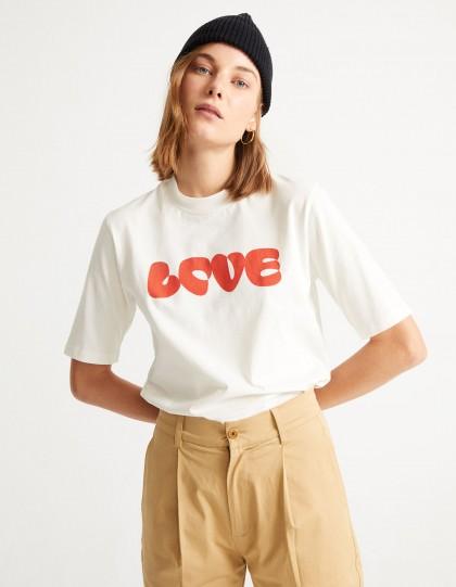 T-Shirt Bio Love Blanc