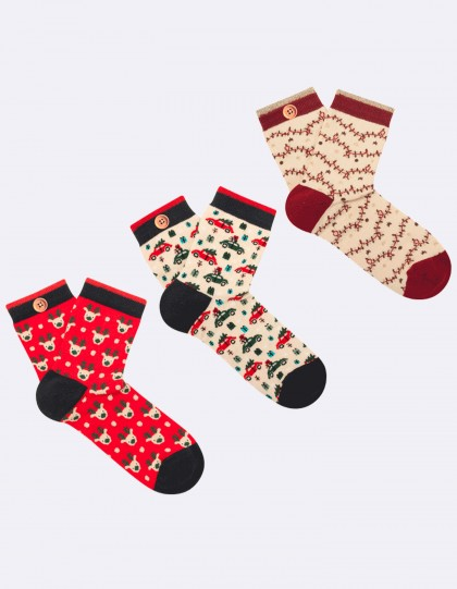 Pack de 3 Chaussettes Femme All I Want for Christmas