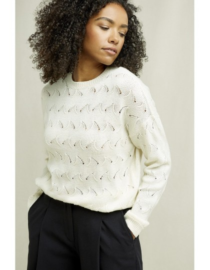 Pull PEOPLE TREE Femme Clyde Crème