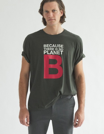 tshirt ecoalf great b kaki