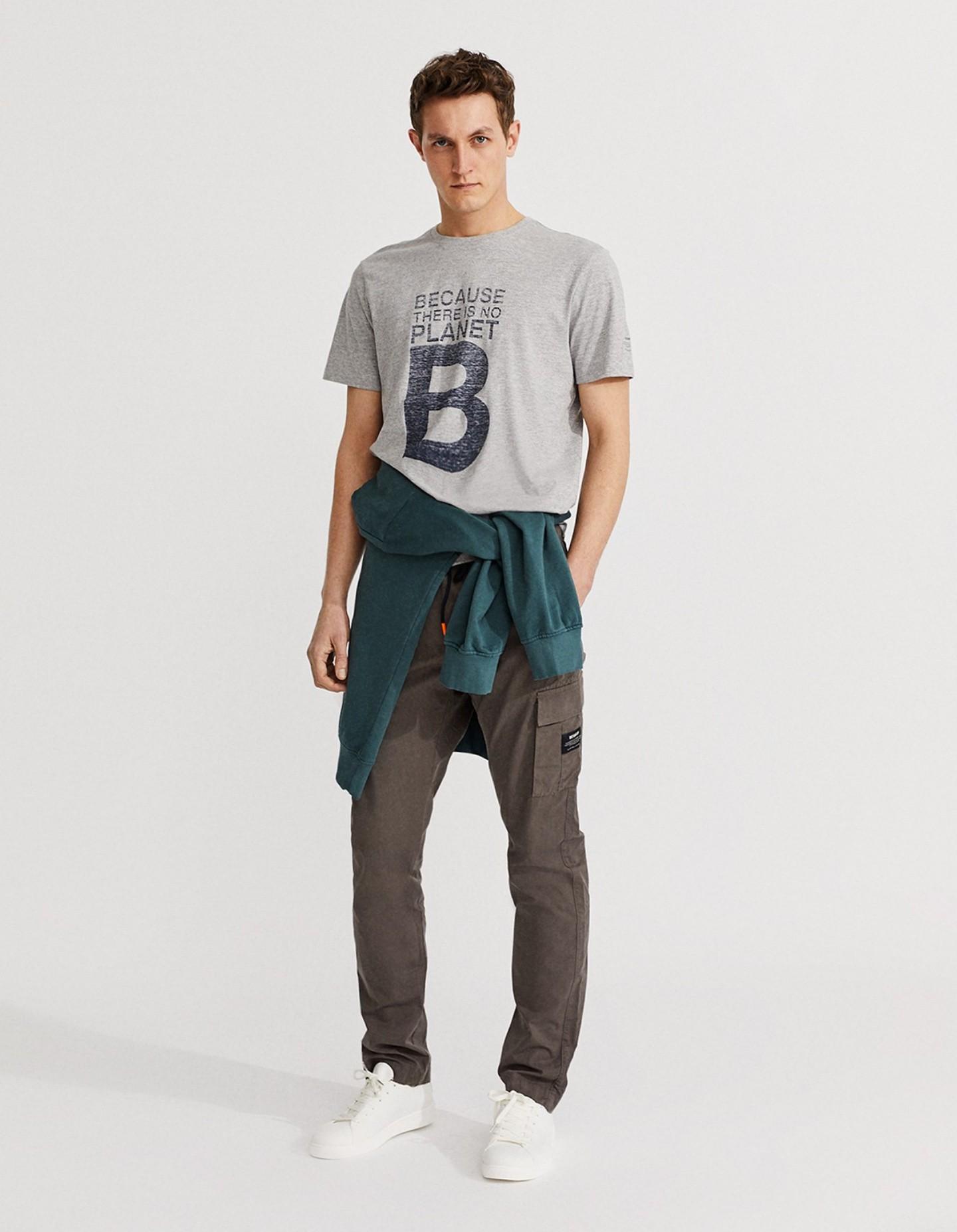 T-shirt EcoAlf Homme Gris